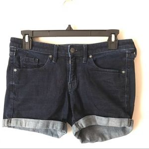 Mossino Denim Mid-rise Midi Jean Shorts Size 4